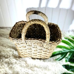 🌵Vintage Boho Wicker Tote Bag Storage Basket